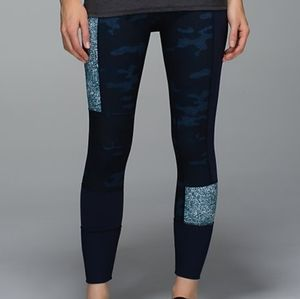 LULULEMON 7/8 leggings Heathered Camo blue, 6